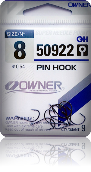 Крючки Owner 50922 BC №12 Pin Hook (11шт.) ow-50922BC-12