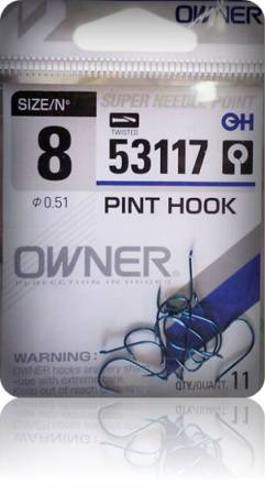 Крючки Owner 53117 Blue №12 Pint Hook (13шт.) ow-53117BL-12